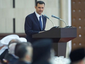 President al-Assad shares Iftar banquet with scholars and social figures 4/August/2013