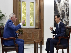 President Assad's  Belarus ONT Channel Interview, Arabic,  May 11, 2017.