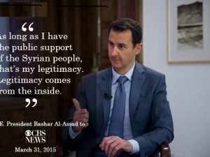 H.E. President Bashar Al-Assad's CBS Interview, March 29, 2015.