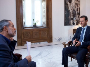 President Al-Assad Interview with the Iranian Khabar TV, October 4, 2015.